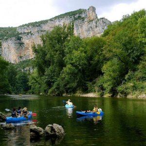 Les gorges de l'Aveyron sur l'eau