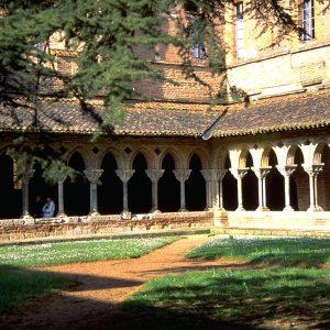 Le cloître de l'Abbaye Saint Pierre, à Moissac