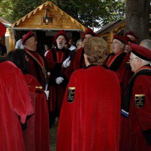 La cérémonie d'ouverture de la fête du vin annuelle de Gaillac